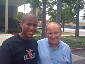 "Justin with ""Marty"" Sklar  Walt Disney Company's International Ambassador for Walt Disney Imagineering"