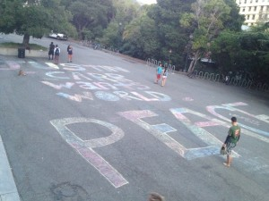 Created on UC Berkeley's campus by Justin's cousin Laureina and friends 2013