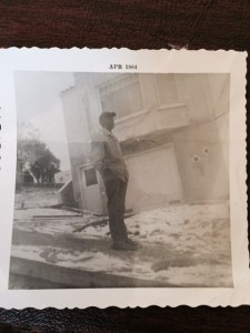 My Father looks at First and only snow to hit San Francisco 1964